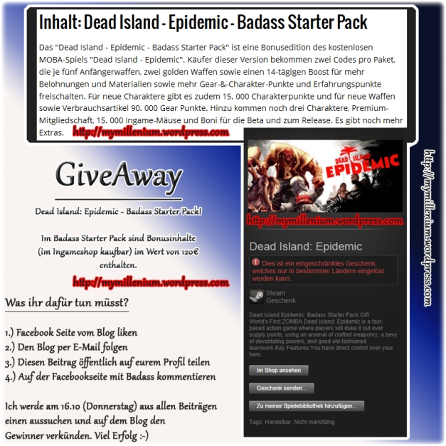 give away dead island mymillenium