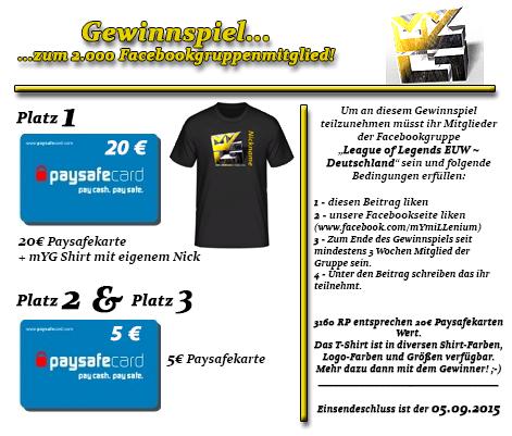 LoL EUW Gewinnspiel bis 05-09-2015