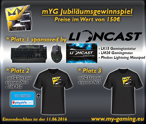 mYG 2500 Gewinnspiel